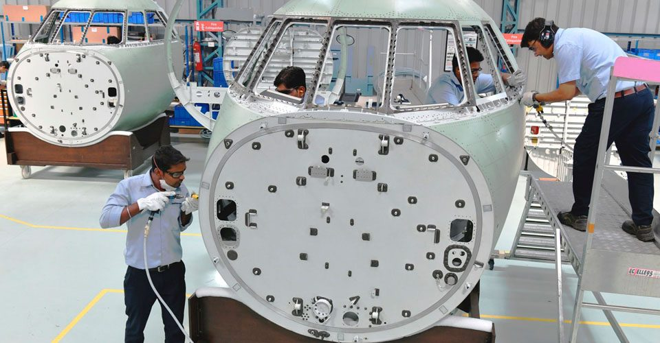 First India-made Falcon 2000 Cockpit Assembly Completed