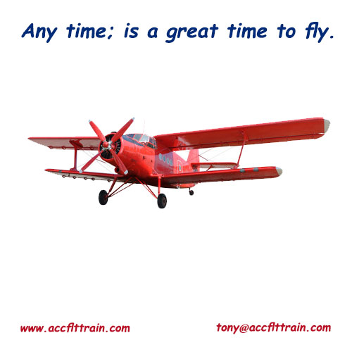 Any time; is a great time to fly.
