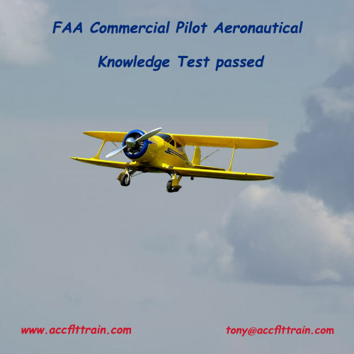 FAA Commercial Pilot Aeronautical Knowledge Test passed