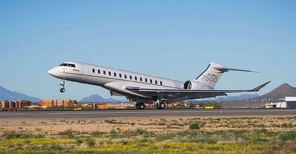 Global 7500 Sets Bizjet Range Record