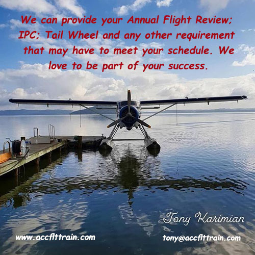 We can provide your Annual Flight Review ; IPC;
