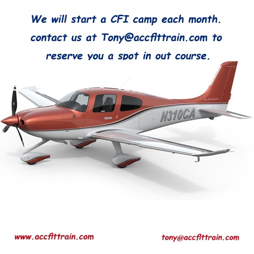 We will start a CFI camp each month