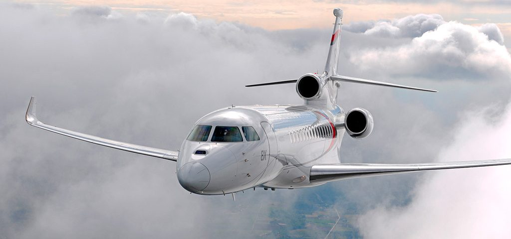 Falcon 8X Sets SMO-TEB Speed Record