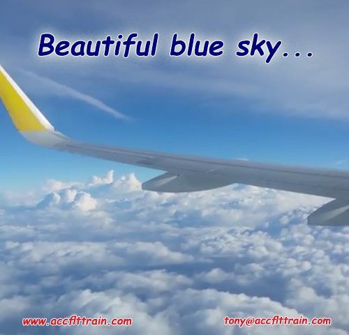 Beautiful blue sky...