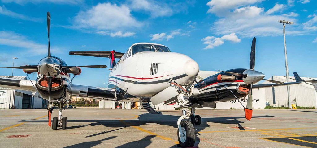 Zeusch Uses King Air for Live-broadcast Relay Flight