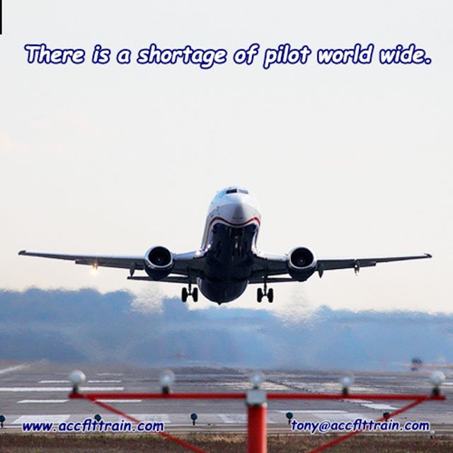 There is a shortage of #pilot world wide... discuss your future in #aviation. We love to be part of your #success.