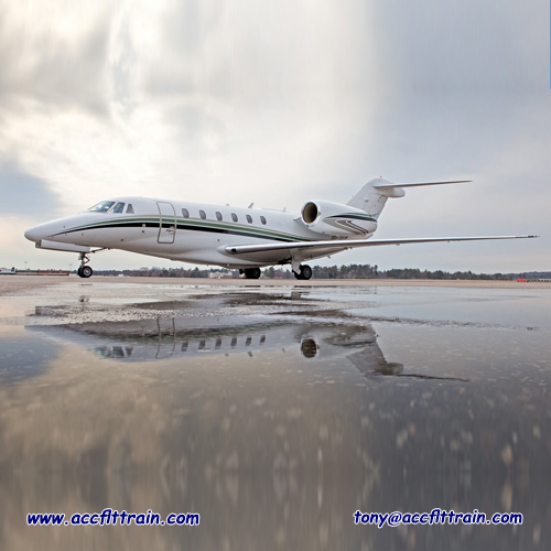 The Cessna Citation X, a medium-sized long-range business jet, marked the launch of the all-new 750 series,