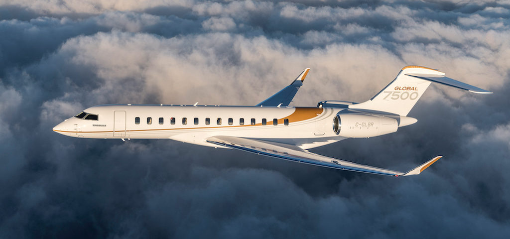 Bombardier Global 7500 Completes 8,225-nm Flight