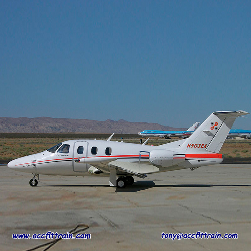Eclipse 500 flight test aircraft. do you want to flight with this one! Come fly with us at ACCFLTTRAIN.