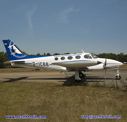 The Cessna 340 is a twin piston engine pressurized business aircraft that was manufactured by Cessna