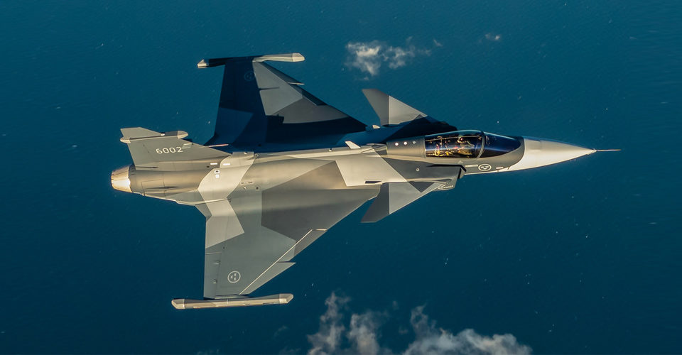 First Gripen E for Sweden Flies