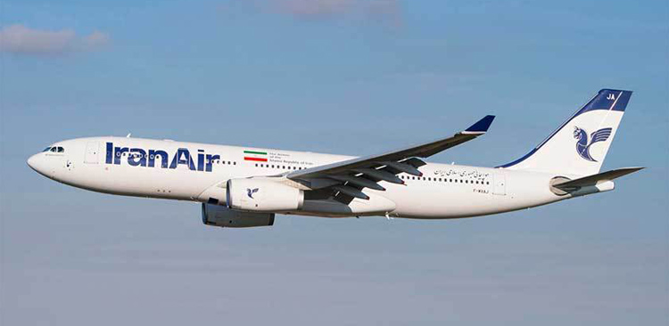 Iran Air A319 edges into mud after snowy landing