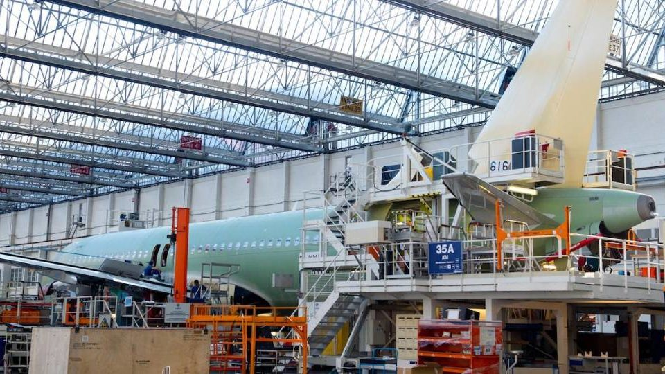 Airbus Cuts Monthly Production Rates by One-third