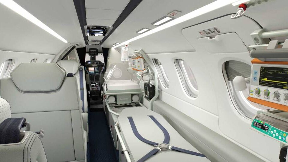 Embraer Rolls Out Medevac Phenom 300