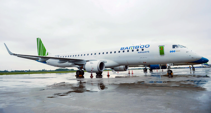 Vietnam's Bamboo Launches Embraer E195 Operations