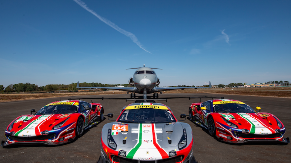 Vista Global Opens Charter Fleet to Ferrari Racers