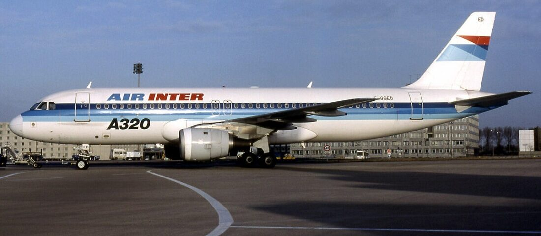 Air Inter Flight 148 from Lyon crashed while landing at Strasbourg in 1992