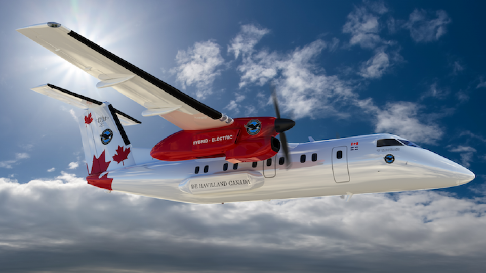 Pratt & Whitney Hybrid-electric System To Fly in a Dash 8 in 2024